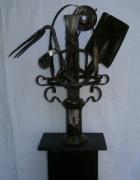 sculpture fleurs fleurs outils jardin contemporain : Composition Florale