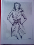 dessin personnages tenue trench yeux cheveux : POSE