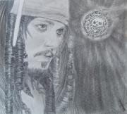dessin personnages johnny deep pirate jack sparrow : jack sparrow
