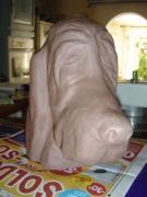 sculpture animaux : BASSET HOUND