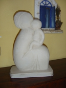 sculpture personnages : LA FEMME ET L'ENFANT