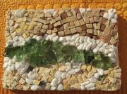 artisanat dart paysages marbre verre nature cours d eau : Rivière