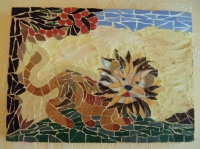 Mosaïque Lion