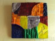 artisanat dart abstrait couleurs mosaique abstrait : JEU DE COULEURS