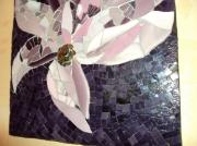 artisanat dart : FLEUR parme violet