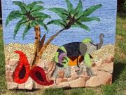 artisanat dart paysages inde elephant palmier exotique : Voyage en Inde