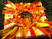 artisanat dart fleurs dalhia automne rouge orange : Automne