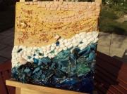 artisanat dart paysages mer plage sable coquillage : Eté
