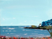 tableau marine mer paysage port : Le Pouldu
