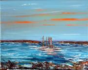 tableau marine mer bateaux voilires bretagne : Marine 3
