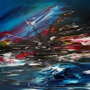 tableau abstrait peinture acrylique abstrait : AA
