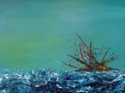 tableau marine peinture acrylique abstrait mer : A3