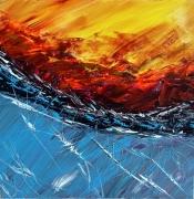 tableau abstrait peinture acrylique abstrait mer : A2