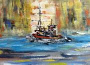 tableau marine bateaux mer voilier : Bateau et voilier