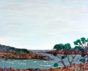tableau marine peinture acrylique marine mer : Presqu'île de Merrien