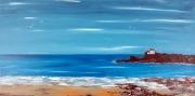tableau marine mer bleu bretagne paysage : Le Pouldu