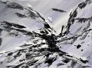 tableau abstrait peinture acrylique abstrait mer : A4