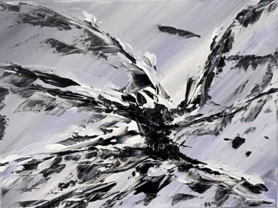 TABLEAU PEINTURE PEINTURE ACRYLIQUE ABSTRAIT MER Abstrait Acrylique  - A4