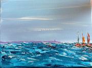 tableau marine mer bateaux acrylique peintures : Marine 5