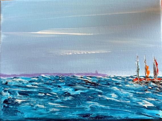 TABLEAU PEINTURE MER BATEAUX ACRYLIQUE PEINTURES Marine Acrylique  - Marine 5