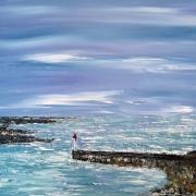 tableau marine mer port bretagne bleu : Paysage de Bretagne