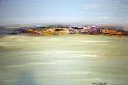 tableau marine mer ile acrylique toile : Une île et la mer