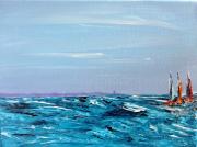 tableau marine mer acrylique peinture voilires : Marine 6