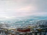 tableau marine mer paysage barque marine : La barque