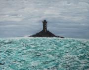 tableau marine mer toile acrylique phare : PHARE & MER