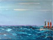 tableau marine voiliers bateaux mer bretagne : Marine 4