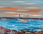 tableau mer bateaux voiliers bretagne : Marine 2