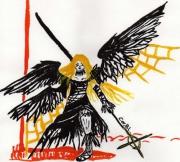 dessin personnages combat : La combattante