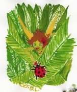 dessin personnages nature : Fée verte