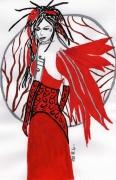 dessin personnages : Le rouge