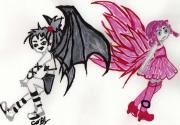 dessin personnages : D ou A