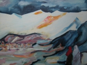 tableau paysages : vallée népalaise
