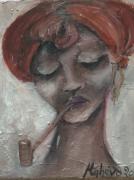 tableau personnages femme xhosas afrique rouge bracelets : femme xhosas 3