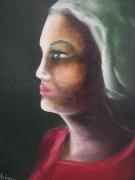tableau personnages : femme au turban vert