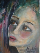 tableau personnages : visage femme