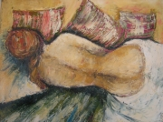 tableau nus : nu aux coussins