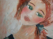 tableau personnages : petite fille rousse