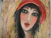 tableau personnages : femme au turban rouge