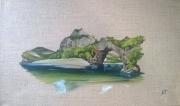tableau paysages vallon pont d ,a riviere arche ardeche : Pont d'Arc