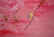 tableau animaux oiseau animaux : Sitelle