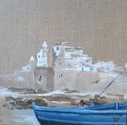 tableau paysages maroc essaouira port barque : Essaouira