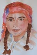 tableau personnages fille maroc haut atlas marocaine : Jeune fille du Haut Atlas