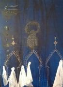 tableau personnages femmes voiles arabesques portes : Arabesques