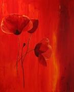tableau fleurs coquelicot rouge fleurs : rouge coquelicots