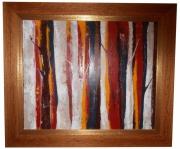 tableau abstrait : forêt