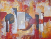 tableau abstrait : rythmes